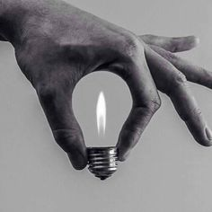 Lightbulb flame optical illusion - photo from Mich@el at i-thescientist on Tumblr