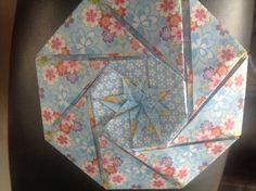 Origami octagon box
