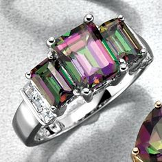 JESSICA®/MD Sterling Silver Mystic Topaz Ring - Sears   Sears Canada Canada Shopping, Mystic Topaz, Topaz Ring, Sterling Silver, Bracelets, Rings, Pretty, Stuff To Buy, Jewelry