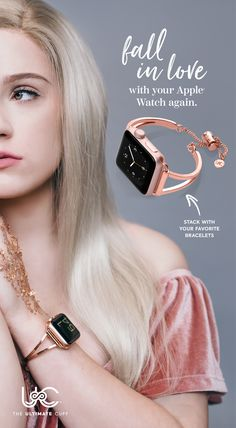 Stylish high-quality accessory jewelry cuffs for your favorite smart watch. – [pin_pinter_full_name] Stylish high-quality accessory jewelry cuffs for your favorite smart watch. Stylish high-q… Apple Watch Bracelets, Apple Watch Bands, Apple Watch Cuff, Trendy Watches, Elegant Watches, Apple Watch Accessories, Jewelry Accessories, Jewelry Ads, Jewelry Clasps