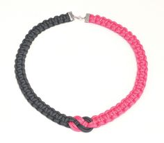 Two colour paracord necklace - Josephine knot with square knots