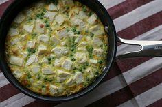 Marias Salt & Søtt | Omelett med feta og vårløk(Feta and spring onion tortilla) - Marias Salt & Søtt