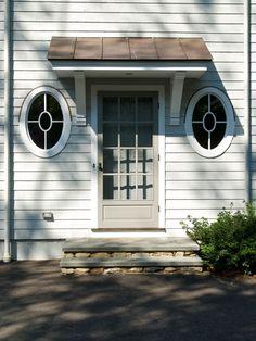 Oval Window Next To Front Door.