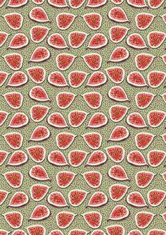 Fig Pattern. Food illustration pattern. www.amandadilworth.co.uk