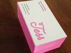 Business card and brand identity by Tess Donahoe.