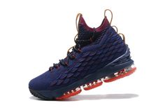 the best attitude f0a4f 7c3ca Authentic Nike LeBron 15 Cavs Navy Wine-Vachetta Tan Mens Basketball Shoes  For Sale - ishoesdesign