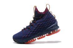 3c2733b5d02b Cheap Nike LeBron XV Cavalivers Mens Basketball Shoes Dark Blue Red Pink  Jordan Shoes Online