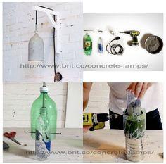 EL MUNDO DEL RECICLAJE: DIY lámpara con botellas PET como molde