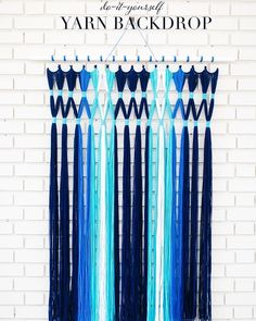 Create your own #ombre #photobooth #backdrop with colorful yarn and pvc piping. #rentmyphotobooth Idea via #RuffledBlog. : #EmilyChidester #KathrynGodwin