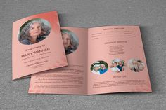 Funeral Program Template Printable Obituary by TemplateStock