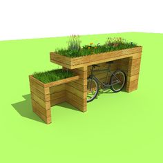 bike hide.  https://www.facebook.com/organicroofs