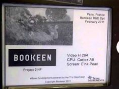Bookeen R&D Team displays smooth video playback on Eink Panel. The video is amazingly smooth with no hickups or slowdowns.