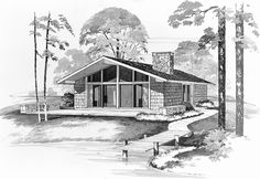 Eplans Contemporary-Modern House Plan - A True Vacationer's Delight - 864 Square Feet and 2 Bedrooms from Eplans - House Plan Code HWEPL00448