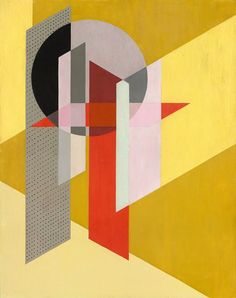 Construcción Z VII, 1926, Óleo sobre tela, 95,3 x 76,2 cm. László Moholy-Nagy (1885-1946) was a Hungarian painter and photographer as well as professor in the Bauhaus school. He was highly influenced by constructivism and a strong advocate of the integration of technology and industry into the arts.