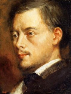 Man's Head - Artista: Edgar Degas Data da Conclusão: c.1864 Estilo: Impressionism Género: portrait Técnica: oil Material: canvas Galeria: Private Collection