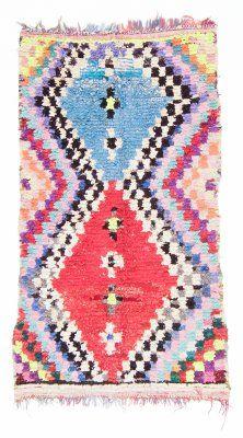 Marokkansk Boucherouite-teppe 205 x 110 cm