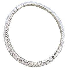 Massive Bvlgari Bulgari Spiga 10.50ctw Diamond 18k White Gold Necklace Featured in our upcoming auction on November 2, 2015 11:00AM EST!