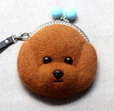 Items similar to Cute Teddy Dog Pattern Felted Wool Kiss Lock Closure Shoulder Bag Clutch Purse on Etsy Felted Wool, Wool Felt, Felt Bags, Dog Pattern, Coin Purse, Kiss, Wallet, Purses, Trending Outfits