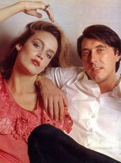 Jerry Hall and Bryan Ferry.  Finally see the resemblance between Jerry and Georgia May.