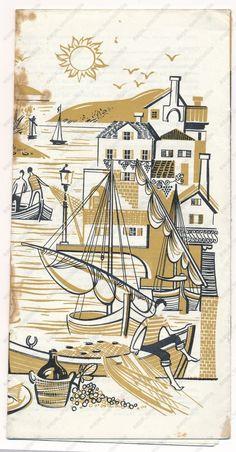 YUGOSLAVIA CROATIA SPLIT RIVIERA vintage old brochure prospect maps plans