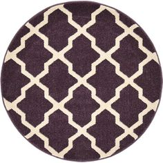 Bring a casual, easy touch to your home decor with the San Antonio Trellis Rugs from Unique Loom. Colorful and stylish, this rug is powerloomed out of durable, stain resistant polypropylene and boasts a simple trellis pattern in contrasting colors. Purple Area Rugs, Light Blue Area Rug, Navy Blue Area Rug, Beige Area Rugs, Trellis Rug, Trellis Pattern, Industrial Area Rugs, Round Area Rugs, Power Loom