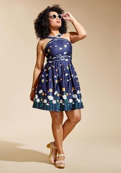#ModCloth - #Trollied Dolly Garden Crossing Dress in S - AdoreWe.com