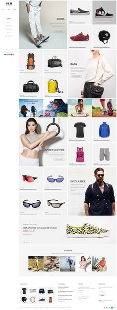 B&M - ecommerce PSD template on Behance