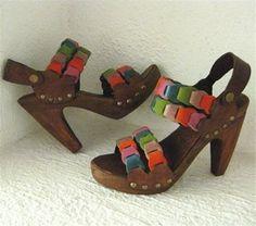 Platform Clog Shoe Bright Suede Joni Link Handmade by karenkell, $225.00