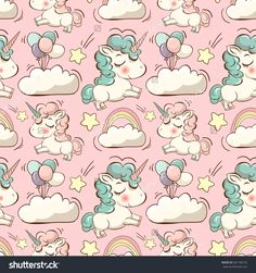stock-vector-vector-pattern-with-cute-unicorns-clouds-rainbow-and-stars-magic-background-with-little-unicorns-581199733.jpg 1500×1600 пикс