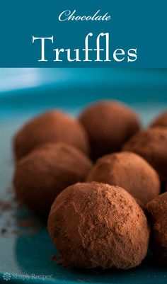 Chocolate Truffles ~ Easy-to-make chocolate truffles made with chocolate and cream, assorted flavors, and coated with either cocoa or chopped nuts. ~ SimplyRecipes.com
