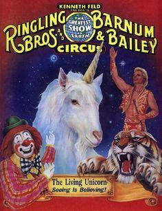 *CIRCUS ~ Vintage Ringling Bros & Barnum & Bailey Circus Poster Circus Clown, Circus Train, Circus Acts, Barnum Bailey Circus, Vintage Circus Posters, Magic Show, Sideshow, Ringling Bros Circus, Circus Pictures
