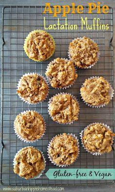 Suburban Hippie Homestead: Vegan Apple Pie Lactation Muffins #glutenfree