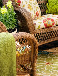 From Pier 1 Imports · Love These Colours For Out Door Furniture