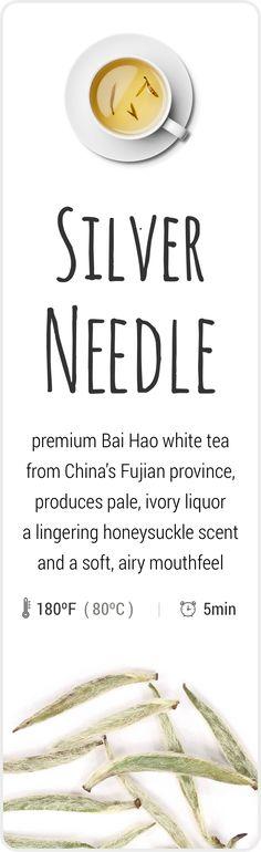 Sublime, farm-fresh white Silver Needle tea from Fujian, China.