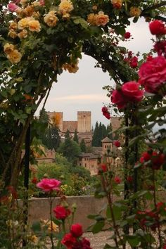 How pretty is this view? The Places Youll Go, Cool Places To Visit, Places To Travel, Places To Go, Beautiful Buildings, Beautiful Places, Travel Around The World, Around The Worlds, Granada Spain