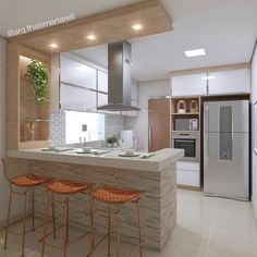✔ 68 suprising small kitchen design ideas and decor that you will suprised 30 in 2020 Kitchen Room Design, Kitchen Colors, Home Decor Kitchen, Interior Design Kitchen, Modern Interior Design, Kitchen Ideas, Kitchen Small, Kitchen Modern, Kitchen Grey