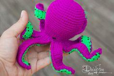 Bright Crochet Octopus - Amigurumi Toy - Limited edition