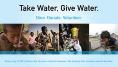 Since you can't live without water, give some for just a dollar