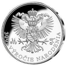Ražba dne! Pamětní medaile z ryzího stříbra - 300. výročí Marie Terezie - revers