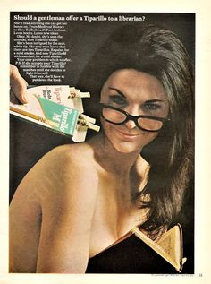 """""""Should a gentleman offer a Tiparillo to a librarian?"""" 1967 vintage ad"""