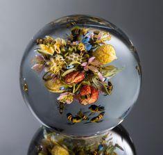 Arte en bolas de cristal, creado por Paul Stankard 7
