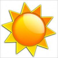 Summer clip art | Free vector Vector clip art Summer Shining Sun clip art