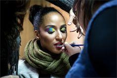 Backstage Take fice.  mua: mary samele makeup