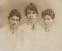 Mary Power (left), Laura Ingalls Wilder's best friend, lived across the street from her in DeSmet. They attended school together and she is described as one of Laura's closest childhood friends. They lost touch after Laura's marriage.