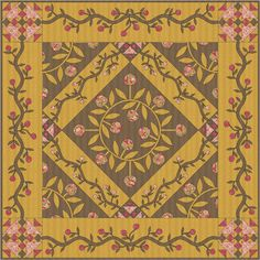 Esther's Quilt Blog: New Patterns: Goldi & Bed of Roses