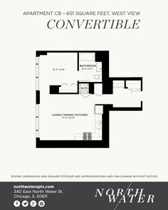 Apartment Cb Convertible 651 Square Feet West View