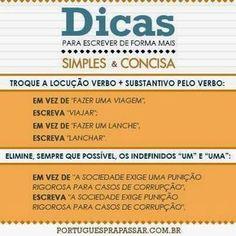 Português na tela: Dúvidas, por quê? #escreva de forma SIMPLES e CONC...
