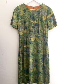 New products 1950s greenblue rose lame dress#fab.#vintage#vintagefashion #vintageclothing #1950s #1950sfashion #1950sdress #ヴィンテージ #ヴィンテージファッション #ヨーロッパ古着 #ヴィンテージワンピース