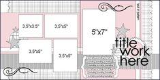 June 2008 Ally Scraps: Search results for sketch Scrapbook Layout Sketches, Scrapbook Templates, Card Sketches, Scrapbook Paper Crafts, Scrapbooking Layouts, Scrapbook Cards, Digital Scrapbooking, Picture Scrapbook, Scrapbook Patterns