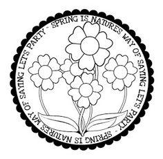Spring digi stamp freebie